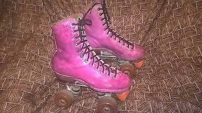 Pink Riedell Redwing Roller Skates high Tops size 4 men 5 ladies rustic