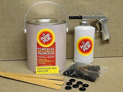 Gallon Fluid Film Undercoating with Standard Spray Gun Qt. Bottle and 100 plugs