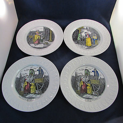SET OF FOUR - Adams China CRIES OF LONDON Dinner Plates