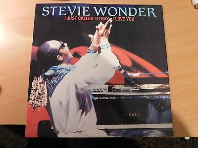 Stevie Wonder  –  I Just Called To Say I Love You 12 inch Record in NM Free P&P