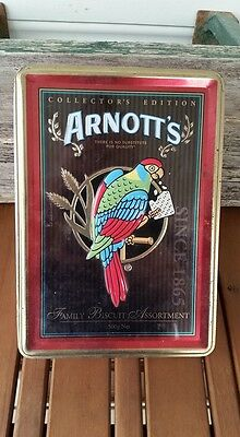 Collectable ARNOTTS Parrot Red Biscuit Tin Collectors Edition 2005