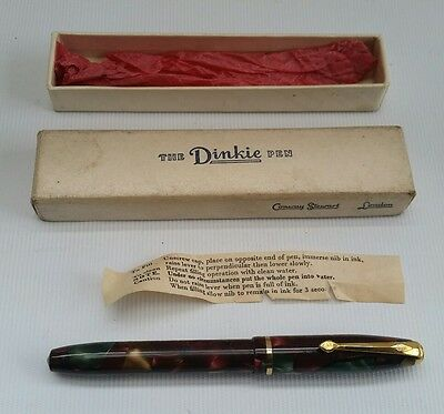 Vtg Conway Stewart Dinkie 550 14ct Multi Colour Fountain Pen, Box & Instructions