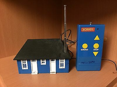 Hornby Radio Remote Power Controller with Sound Blue Building.