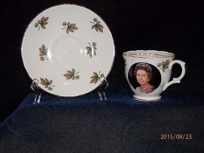 Vintage Staffordshire Crown - Edmonton Commonwealth  Games 1978 -  Cup & Saucer