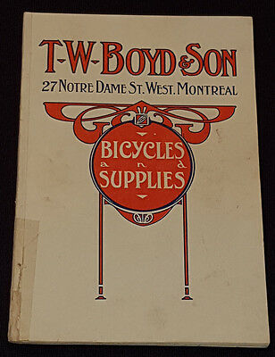 1915/16 - T.w. Boyd And Son, Montreal - Bicycle Supplies - Catalogue - Original