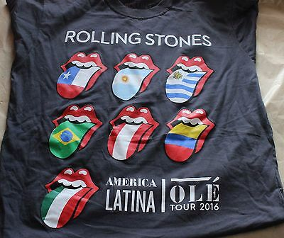 Rolling Stones T Shirt Tour 2016 America Latina Ole size L