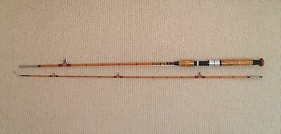 Black Seal Split Cane Fishing Rod 1960's Spinning Rod in Excellent Condition