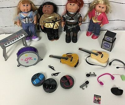 Cabbage Patch Kids Pop Star Collection Lot 4 Dolls + Accessories Toys R Us 2005
