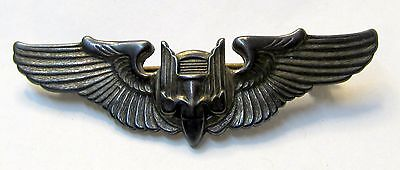 "WWII Army Air Force aviation AERIAL GUNNER WINGS Sterling Silver 2"" shirt size"