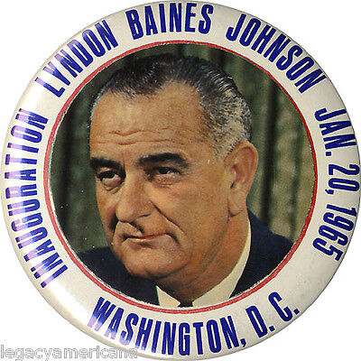1965 Lyndon Baines Johnson Inauguration Souvenir Button (4926)