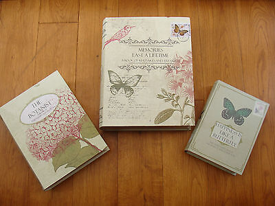 NEXT 3 Book Shaped Stroage Boxes Shabby Chic Floral Butterfly Detail