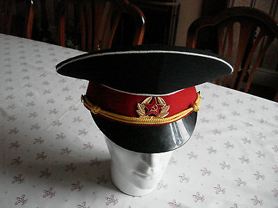 Post Cccp Russia Russian Army Suvorov School Military Academy Peaked Cap Hat