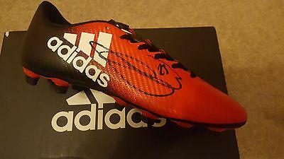 Manchester United Luke Shaw Signed Adidas Football Boot Picture Proof