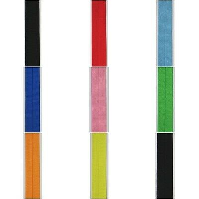 Fold Over Elastic Binding 25mm (Various Colours / He/64)