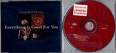 Crowded House EVERYTHING IS GOOD FOR YOU 4-Track CD Single w/ Eddie Vedder Live