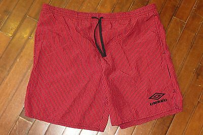 Vintage 1990s Umbro Spell Out USA Made Mens Small Nylon Soccer Shorts