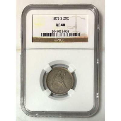 1875 S Seated Liberty 20C Piece NGC XF40 ***Rev Tye's Coin Stache*** #5065180