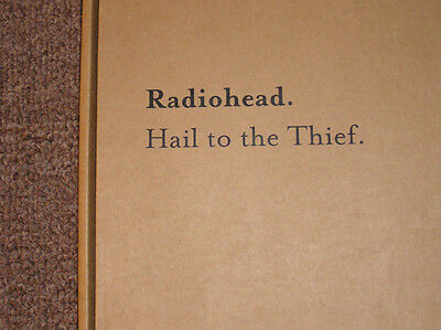 Radiohead Hail To The Thief GIANT WOOD Promo Only Jigsaw Puzzle in Original Box