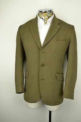 "38"" Long 3 Button John G Hardy Ventless Gamekeeper Tweed Check Blazer Jacket"