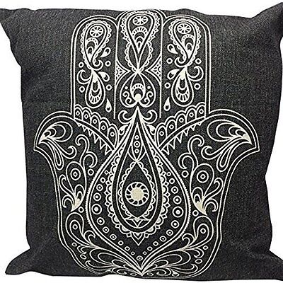 Throw Pillow Case Cover HAMSA Lucky HAND Two Sided