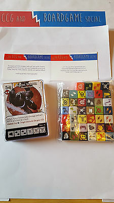 Complete Common Set 40 cards and 40 dice Amazing Spiderman Dice Masters