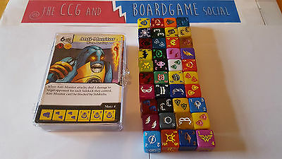 Complete Common Set 40 cards and 40 dice War of Light Dice Masters