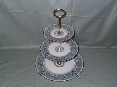 Wedgwood Florentine Turquoise 3-Tier Hostess Cake Plate Stand W2714