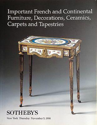 Sotheby's Important French Continental Furniture Decorations Ceramics Carpets