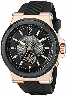 Michael Kors Men's Automatic Dylan Black Silicone Strap Watch MK9019