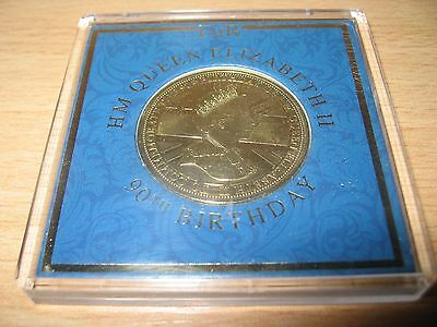 HM Queen Elizabeth II 90th Birthday Commemorative Coin 2016 (A1)