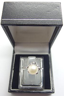 925 Sterling Silver ring Freshwater Cultured Pearl Ring Size N 1/2 UK 7 US #I1