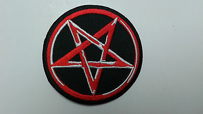"""1 pc -NEW PENTACLE DESIGN ROUND EMB. PATCH 3"""" DIA SEW/IRON ON"""