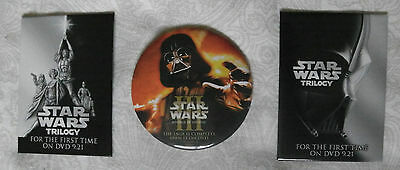 Star Wars Trilogy / Revenge of the Sith, Promomotional DVD release, 3-Pin Set