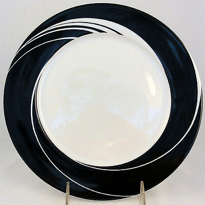 "BLACK PEARL Block Spal Dinner Plate 10.5"" NEW NEVER USED Portugal Porcelain"