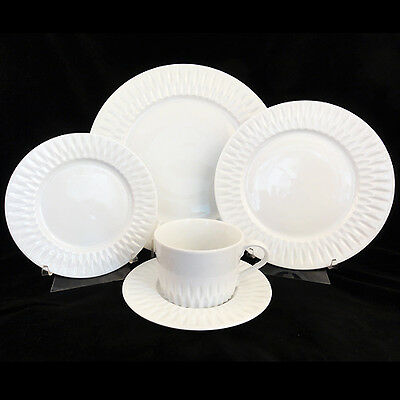 AZORES Block Spal 45 Piece dinnerware Set NEW NEVER USED Porcelain Portugal