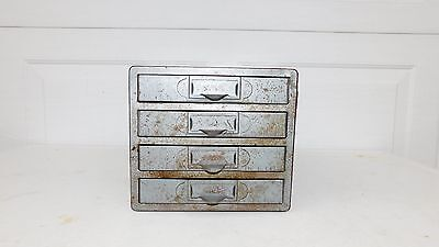 Vintage Century Display Utility Cabinet Tool Storage 4 Drawer Compartments