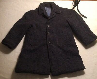 Antique Boys Child's Wool Coat Excellent Condition 3- 4 Toddler/Child