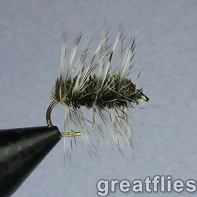 1 DOZEN  RED GRIFFITHS GNAT DIPTEROUS FOR FLY FISHING DIP-25