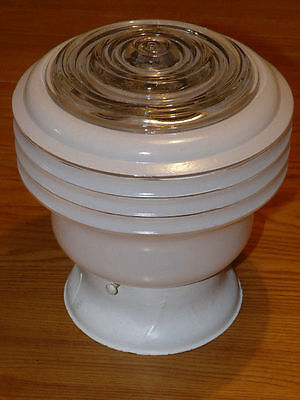 Vintage White Glass Light Fixture Shade Globe Ceiling Lamp