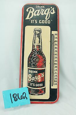 1950's BARQ'S ROOT BEER THERMOMETER -- PERFECT CONDITION *
