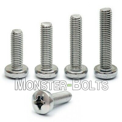 4mm (M4) - Stainless Steel Phillips Pan Head Machine Screws DIN 7985A 18-8 / A2