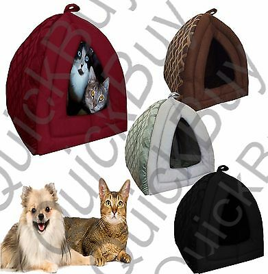 Pet Igloo Dog Cat Bed House Kennel Doggy Cushion Warm Cozy Padded Fleece Basket