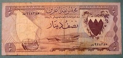 Bahrain 1/2 Dinar  Note From 1964 , P 3