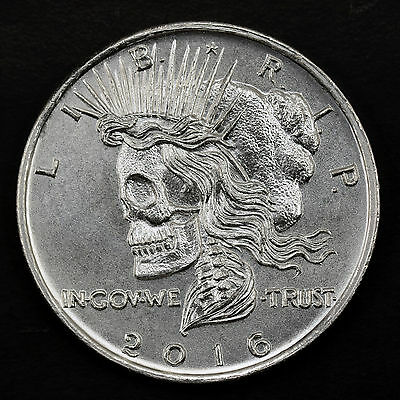 2016 Death Of Liberty 1 oz .999 Silver BU Round USA Type I Bullion Zombie Coin