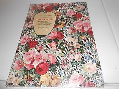 Giftwraps By Artists - Rare Roses - Rosen Patterns - 12 Full Color Patterns New