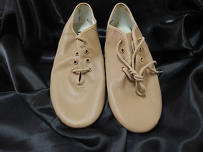 Jazz Dance Shoes, Leather Split Sole, Tan, Various Adult Sizes, New