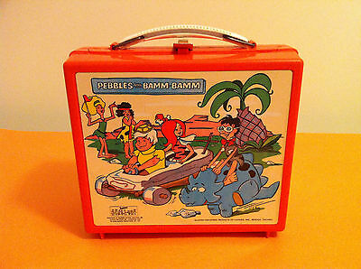 Flintstones Pebbles and Bamm Bamm Lunchbox Lunch Box Aladdin Industries Vintage