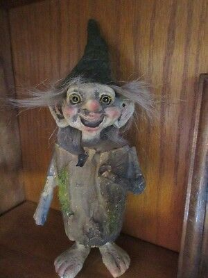 New ,Unique Resin Forest log  troll * elf *Gnome  figure * figurine collectible