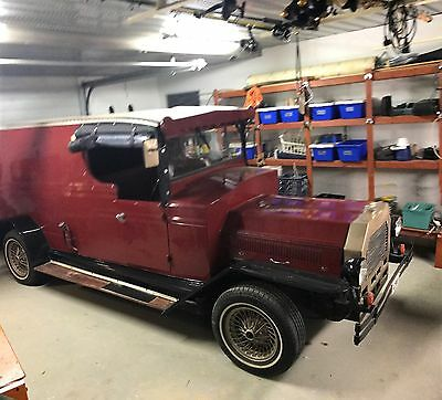 Vintage Model A Ford Panelvan Wagon On A HQ Holden Chassis