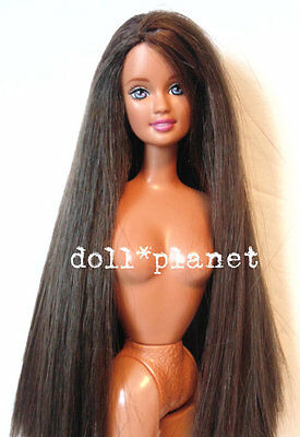 TERESA DOLL HTF Long Brunette Hair Purple Eyes Barbie friend Nude for OOAK or...
